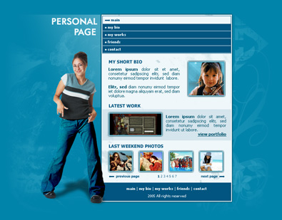 Free Personal Pages Template | Free Templates Online