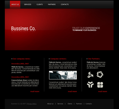 Free business template free css template free templates online download fbccfo