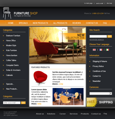 free interior and furniture templates free templates online