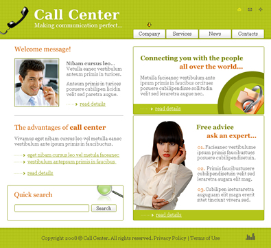 Free Call Center Template | Free Templates Online