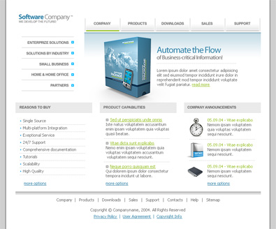 Software Company Template | Free Templates Online
