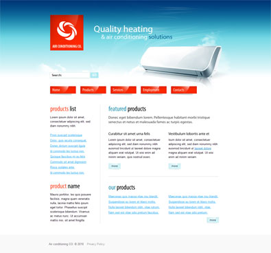 Free Website Template For Heating&Air Conditioning Solutions   Free ...