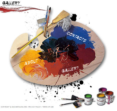 Painting Web Template | Free Templates Online
