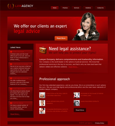 Free Website Template For Legal Advisory Services | Free Templates ...