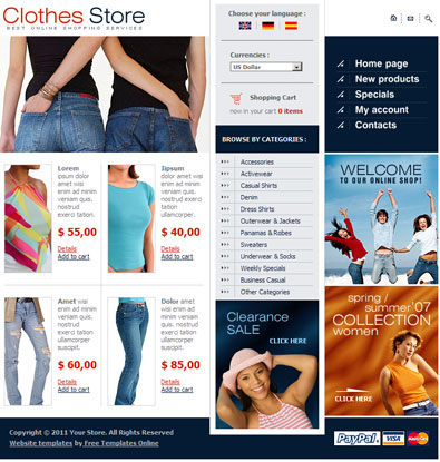 Dash clothing store in california website
