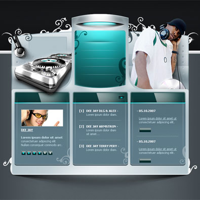 Free music website template for dj free templates online download pronofoot35fo Choice Image