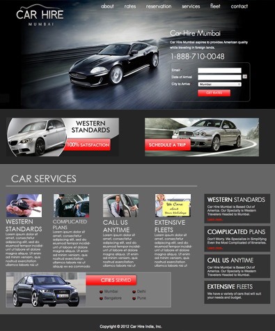 Car Hire Services Free Wordpress Template Free Templates