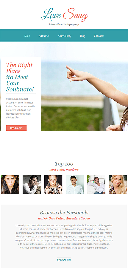 premium dating website templates Dating website templates are composed for online dating and matching projects all dating websites are designed in the form of community websites, meeting all demands of such kind of websites.