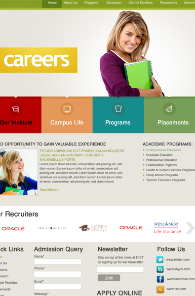 free career wordpress template