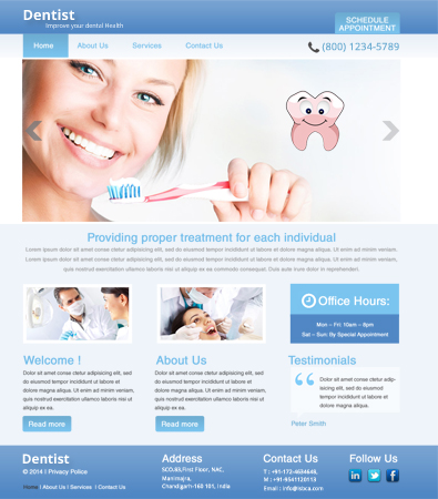 Free Dentist WordPress Template | Free Templates Online