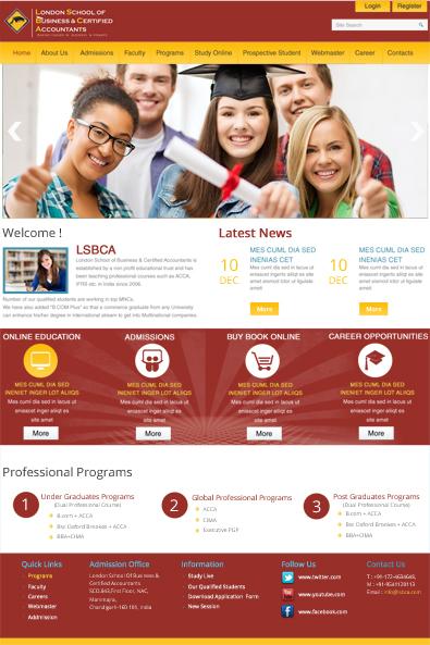 school website free wordpress template
