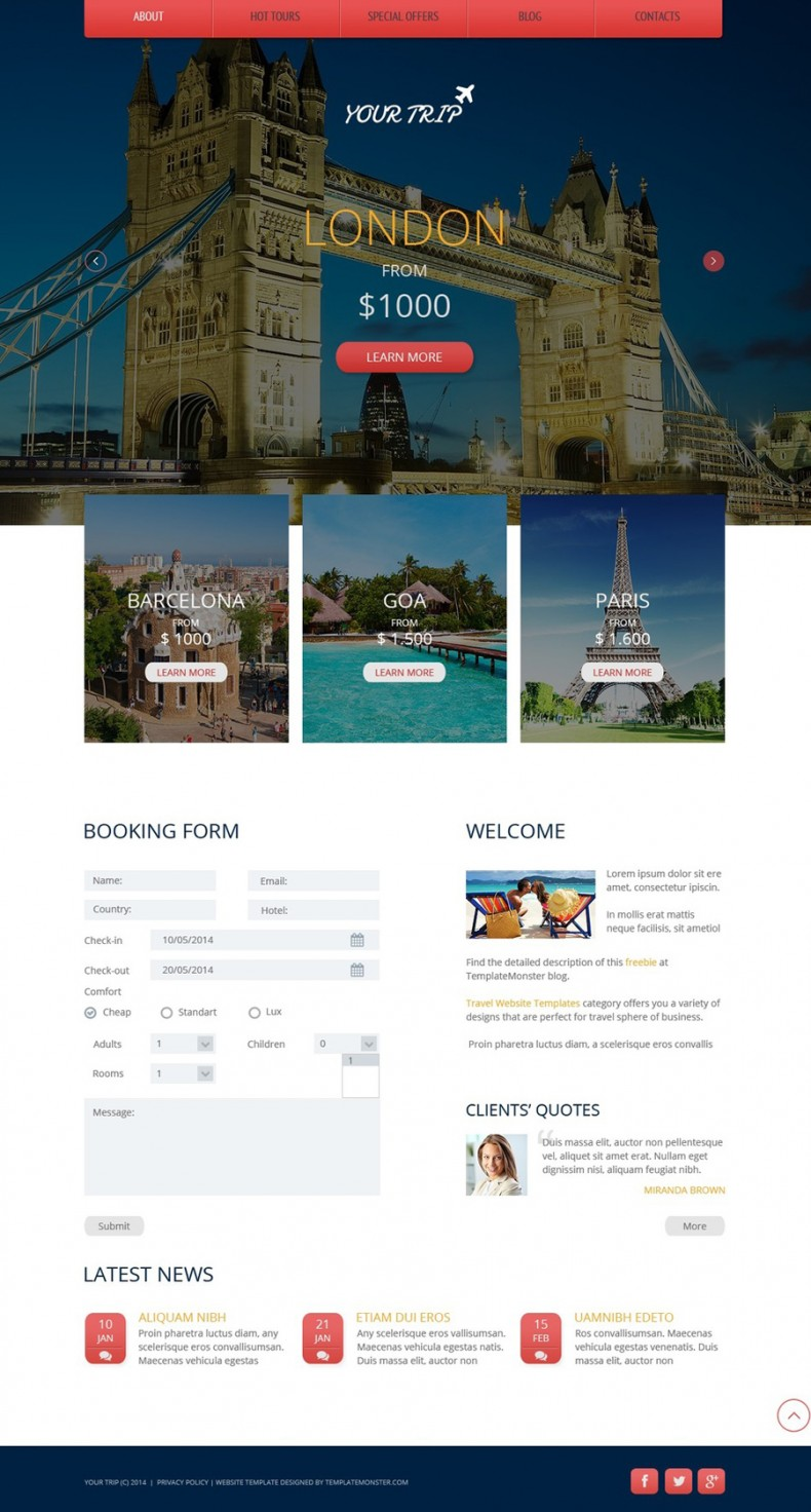 Travel Html Templates Travel Agency Free Website Template | Free Templates Online