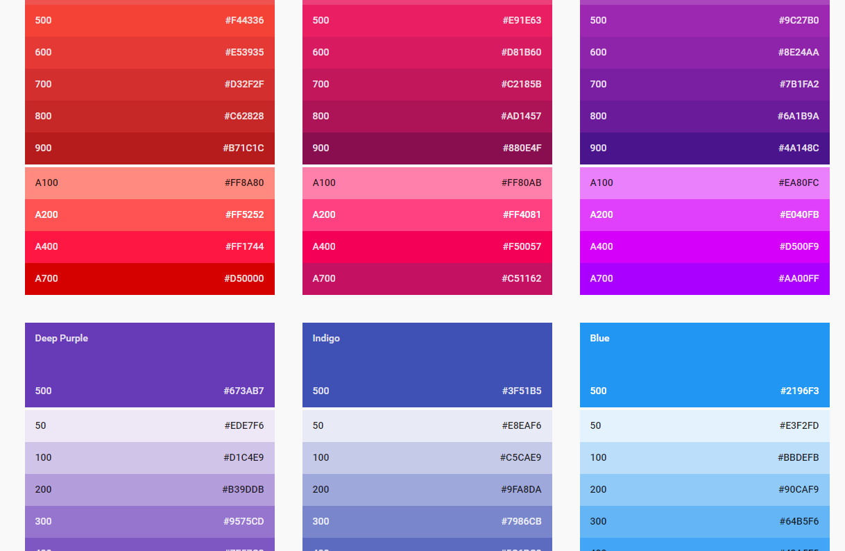 Mdc placeholders npm for Web page background color codes
