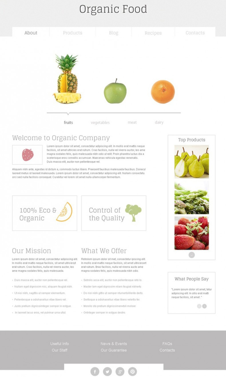 Nutrition Free HTML Template