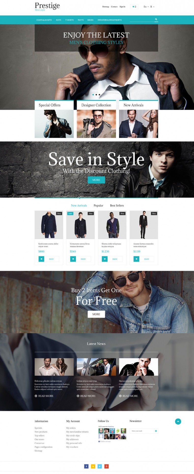 Free PrestaShop Theme for Fashion Store | Free Templates Online