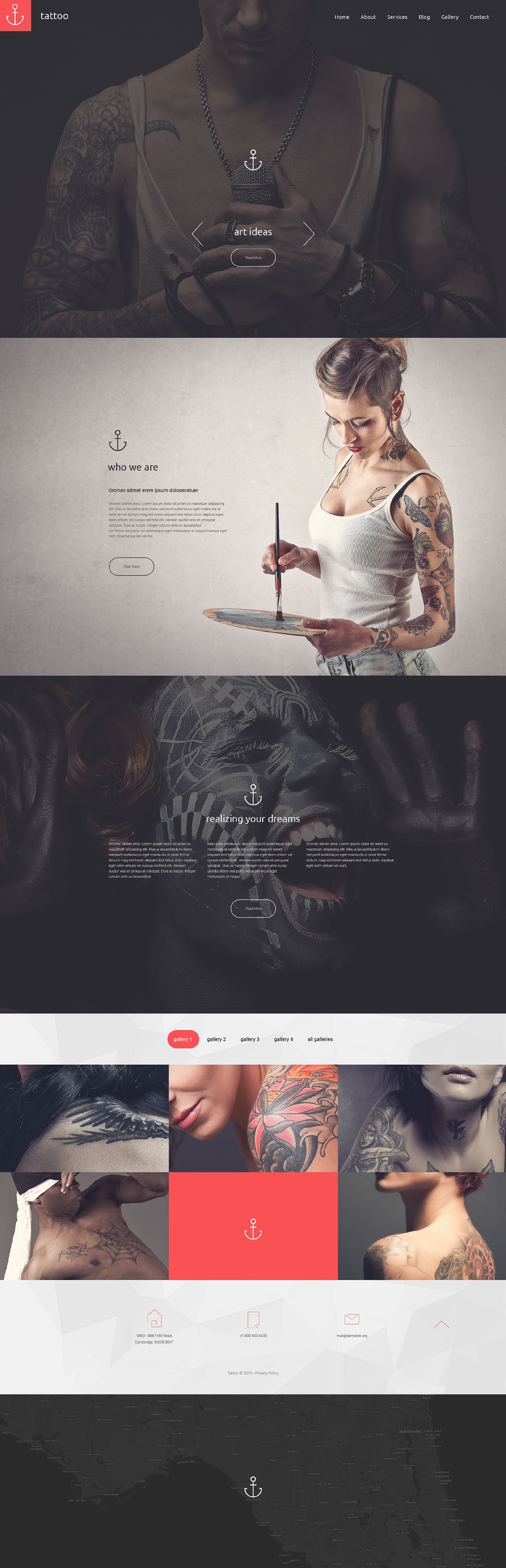 Tattoo Drupal Template