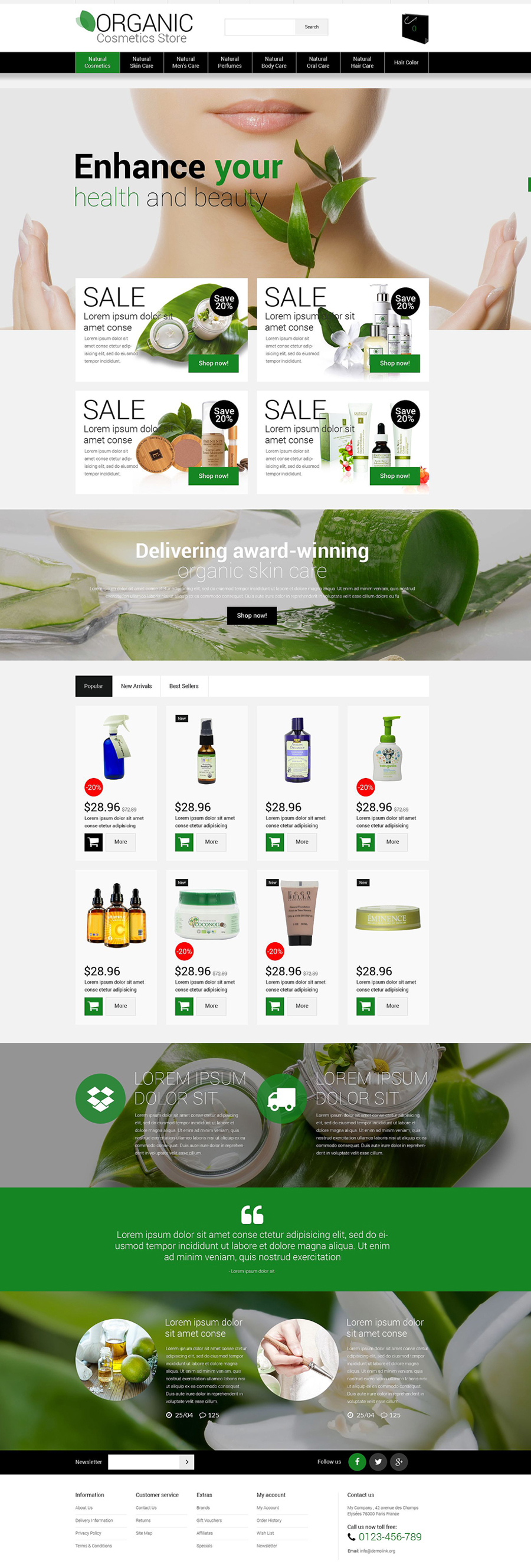 Beauty OpenCart Template