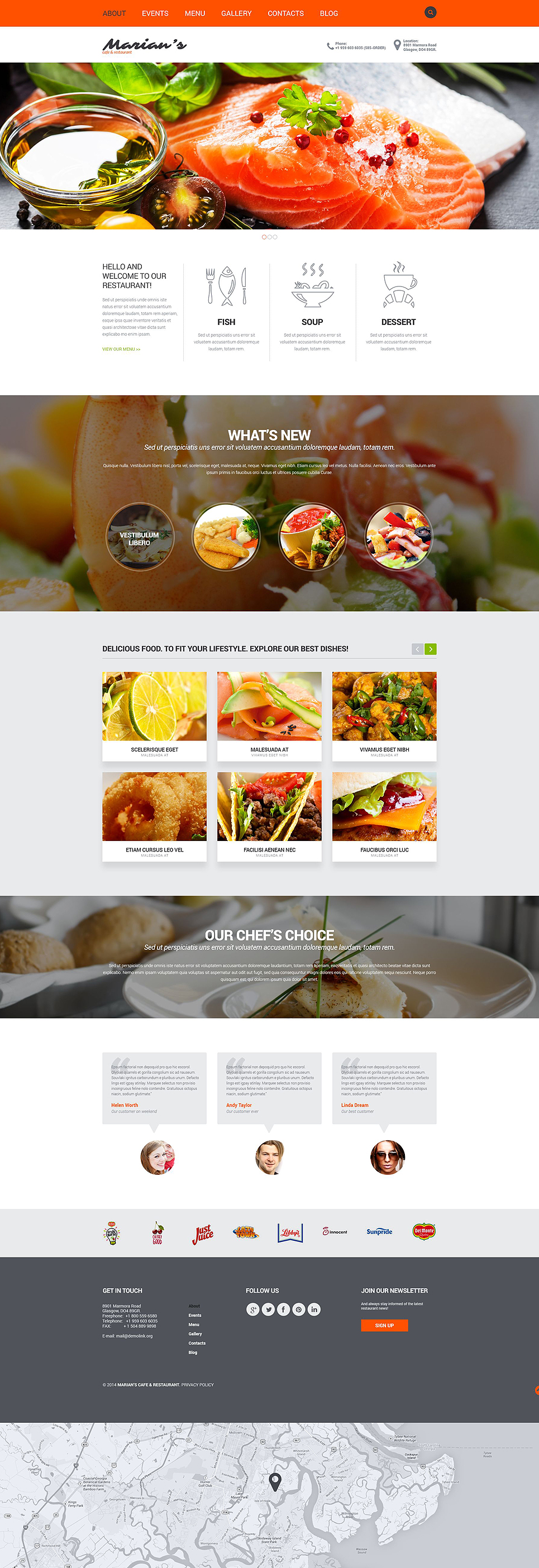 Cozy Restaurant Joomla Template