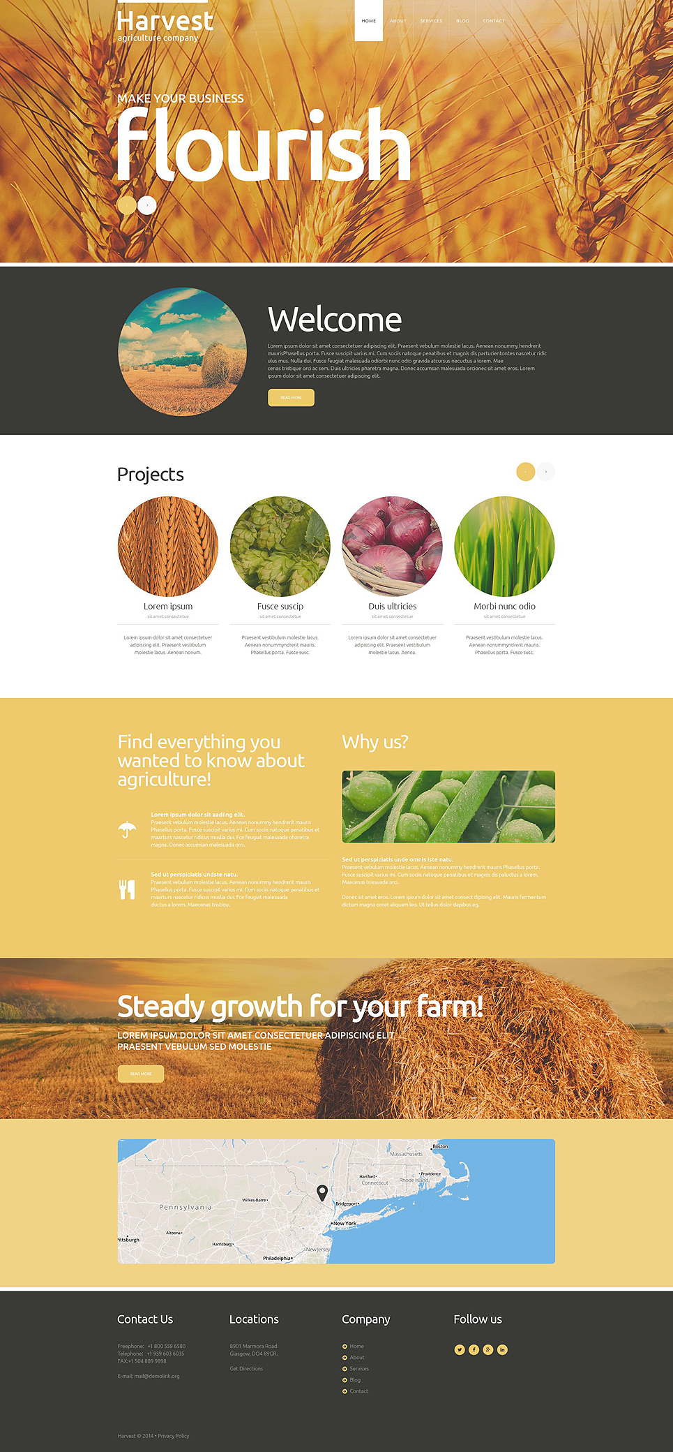 Buy Grow Harvest Team Joomla Template