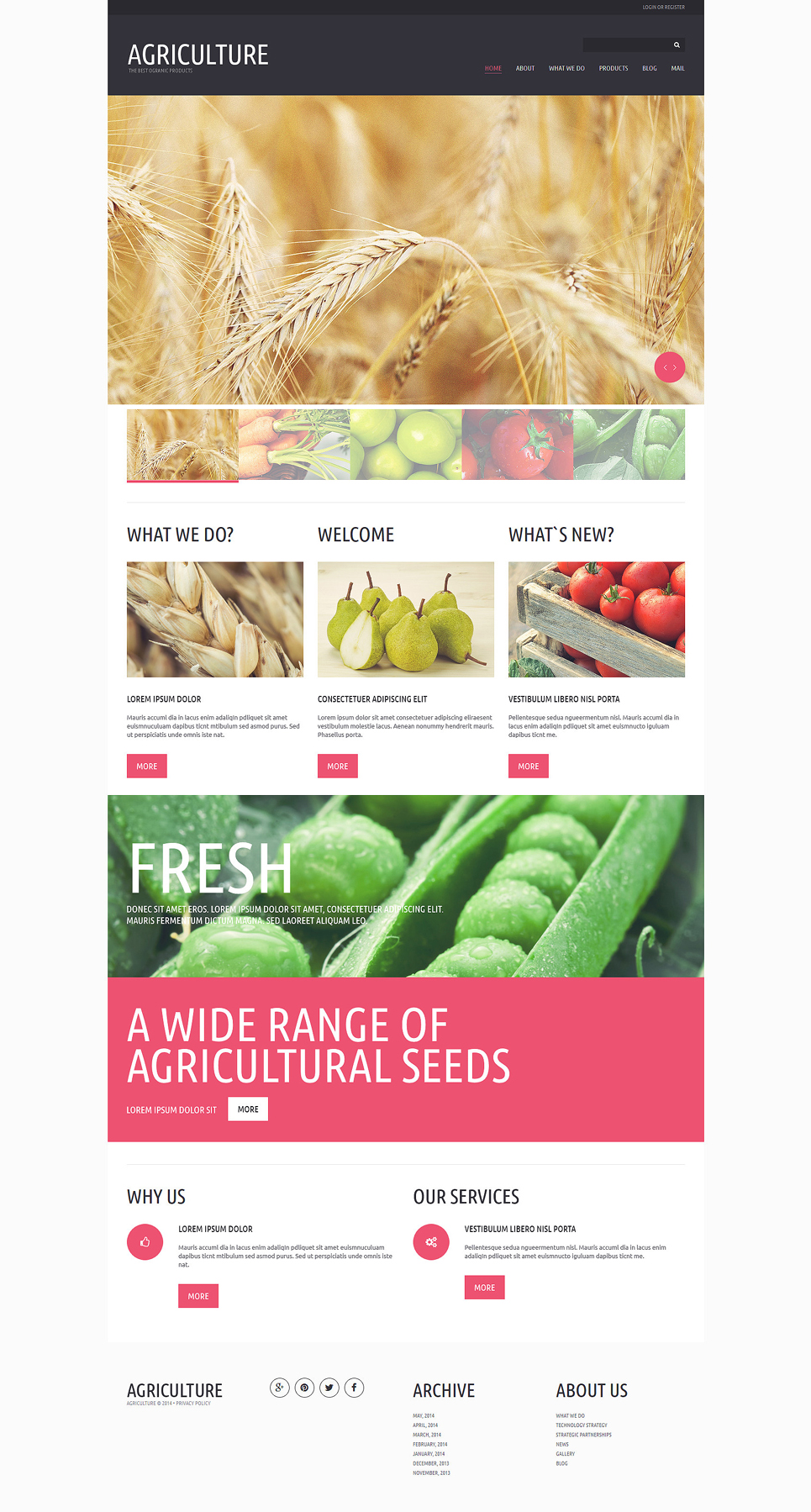 Organic Eating Joomla Template