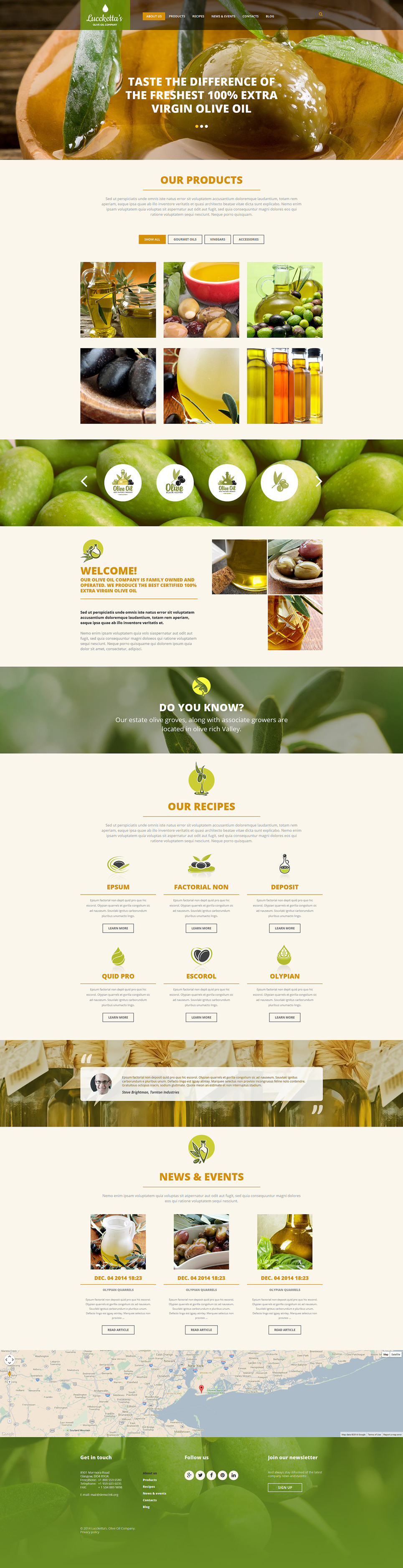 Olive Oil Production Joomla Template