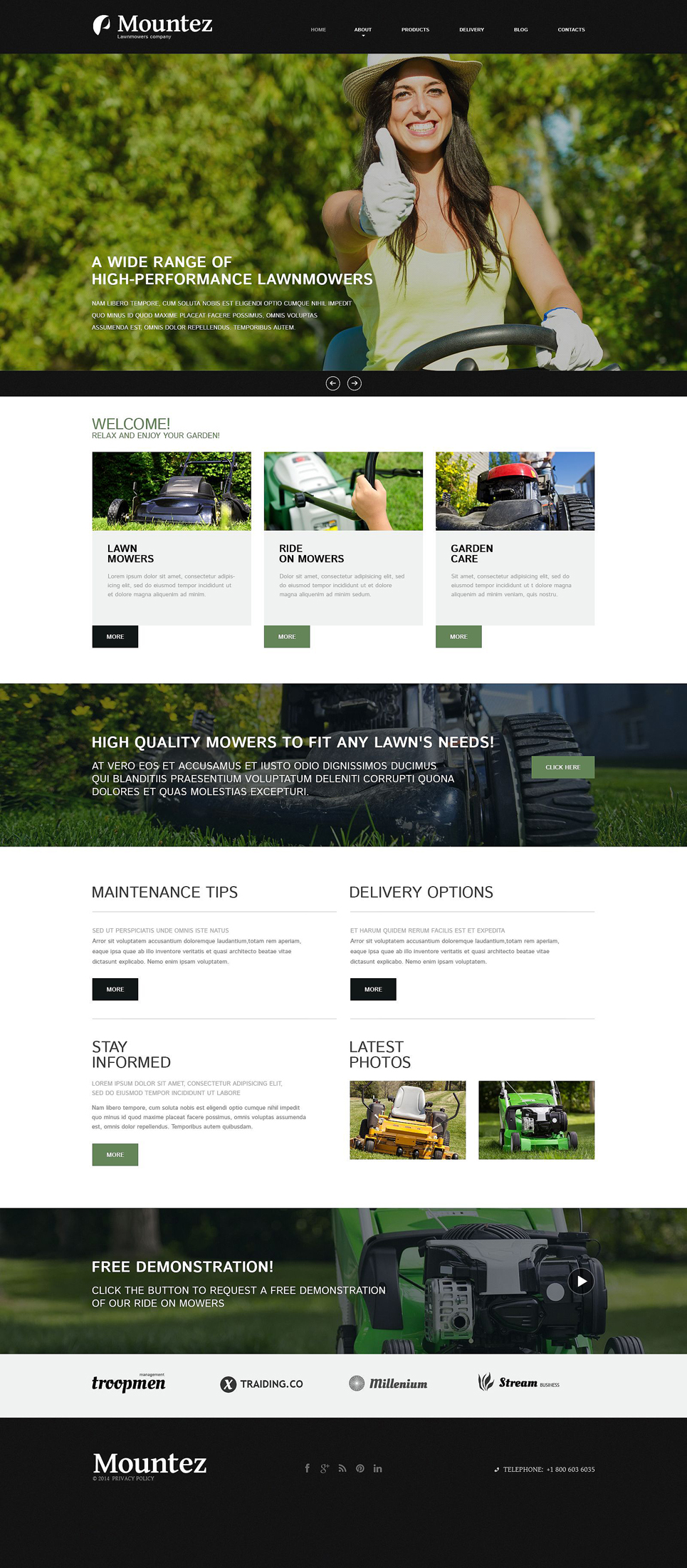 Lawn Styling Joomla Template