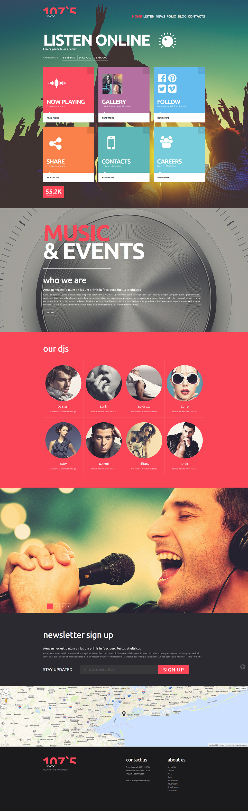 Radio Joomla Template
