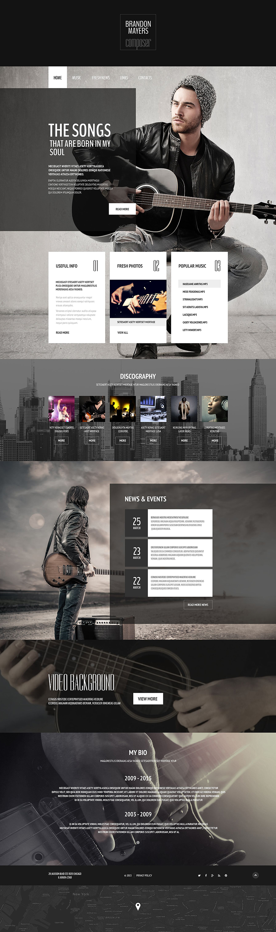 Top 10 personal page web templates free templates online for Free portfolio website templates