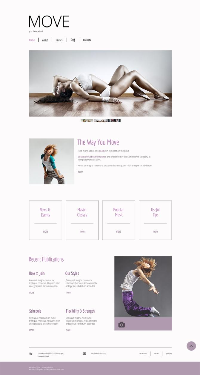 Free Dance Studio Website Template Free Templates Online