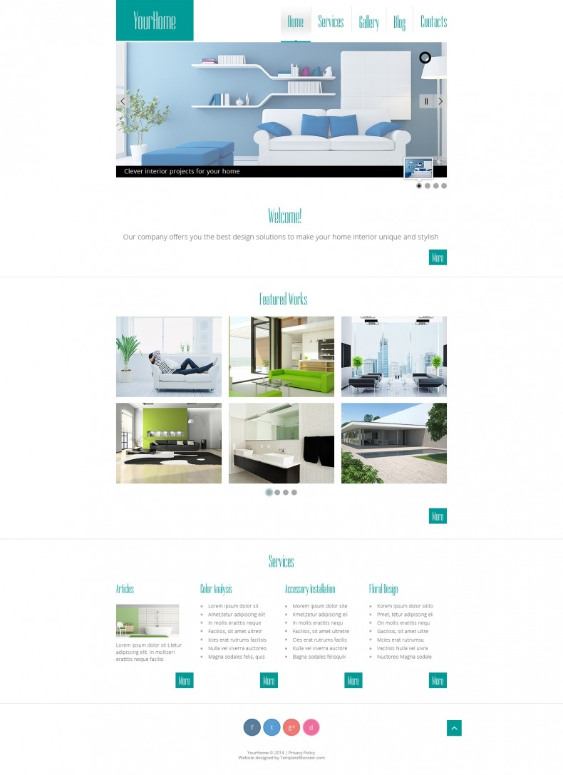 Interior Design Free Html Template Free Templates Online