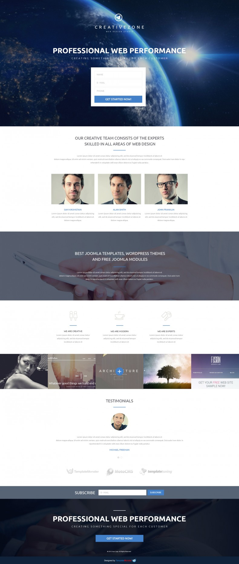 Free Landing Page Template For Design Studio Free Templates Online - Joomla landing page template