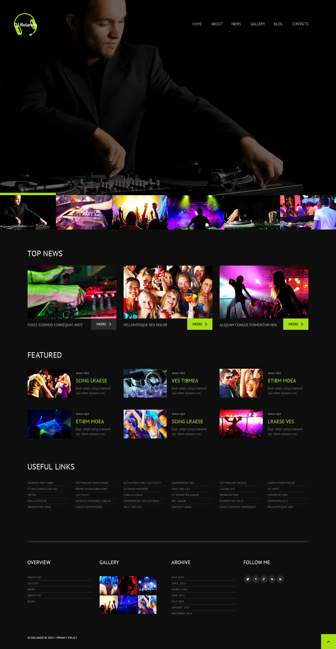 Best Responsive and Easy to Use Music Themes, 2016 | Free Templates ...