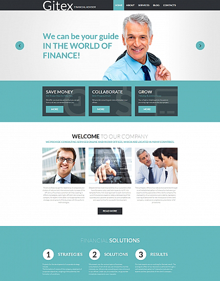 Financial Advisor Responsive Moto CMS 3 Template