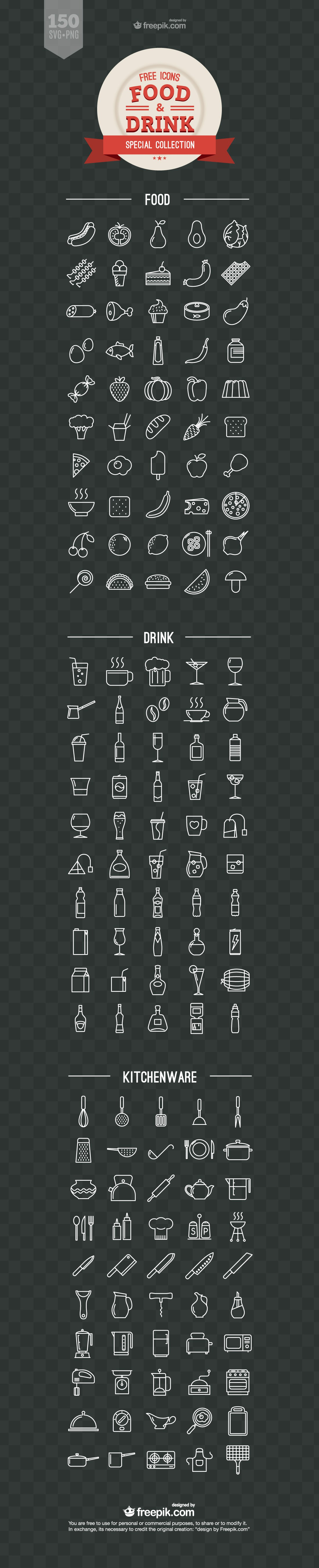 Food-and-Drink-Free-Vector-Icons