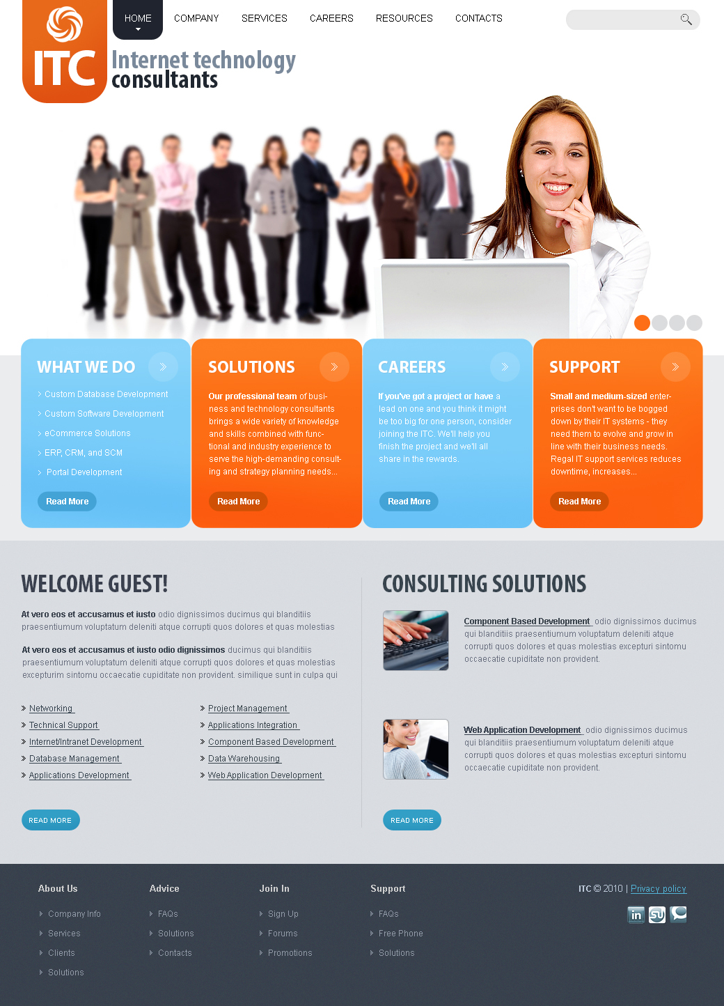 Free HTML Template For Business